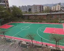 蓝球场拼装地板